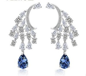 high quality low price more color diamond crystal lady's earrings 25