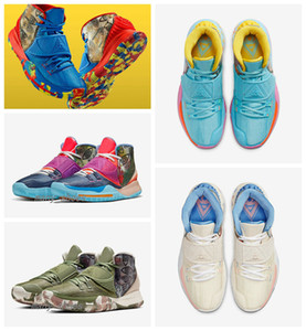 2020 Les nouveaux hommes Kyrie Préchauffez 6 Tokyo Pékin Guangzhou Designer Sneaker kyrie NYC 6 Miami Houston Heal The World Sports Basketbal Chaussures