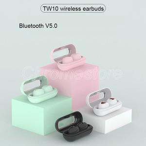Nouveau casque de musique TW10 coloré de conception spéciale écouteurs Bluetooth casques hi-fi à-oreille pk Macaron inpods i10 pour téléphones cellulaires