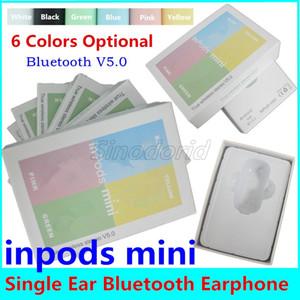 arkadaşlar tek kulak earbud için Inpods One Mini Kulaklık Bluetooth 5.0 Kulaklık Kablosuz Kulaklık Süper Ses Kulaklık Kulaklık Hediye