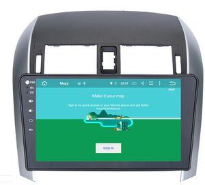 8-Core-Android 9.0 10.2inch Auto-DVD GPS Navi Audio für Toyota Corolla 2007-2013 Stereo Headunit-Monitor Multimedia GPS-Navigation Audio