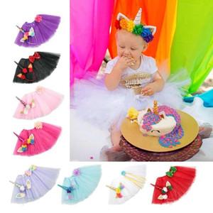 Einhorn Haarbänder und Tutu Kleid Set Dekoration Party Dekoration Unicorn Party Craft Supplies Weihnachten Neujahr Dekor für Kinder