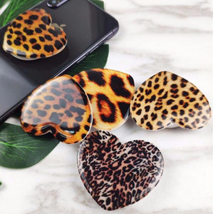Free DHL Universal Expandable Phone Grip Shining Leopard Cell Phone Holder 3M glue Flexible Stand For iPhone 11 X 8 7 plus Samsung S9 S10