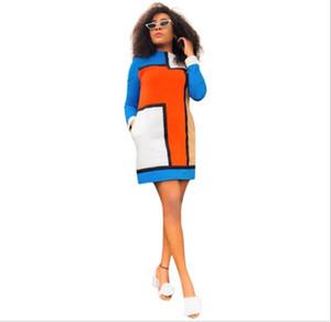 Avrupa ve Amerikan moda ekose baskılı gündelik elbise mizaç ışık pişmiş T-koltuk etek tatil parti rahat spor etek