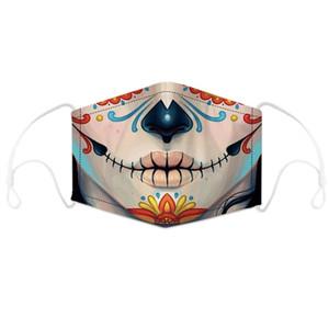 Máscara assustador Cosplay Led algodão cobrir a boca Luz-se para o partido Festival Halloween continuam avistar conforto e brilho
