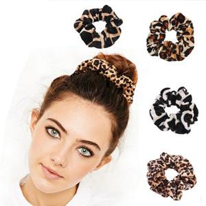Leopard Velvet Scrunchies Durag Hair Ring Ties Ponytail Holders Elastico Corda elastica Hairband Accessori per capelli per le ragazze