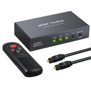 Cabo HDMI SPDIF / TOSLINK Optical Áudio 3x1 Switcher Digital Optical Switch HDMI Splitter Extender com IR Remote Control