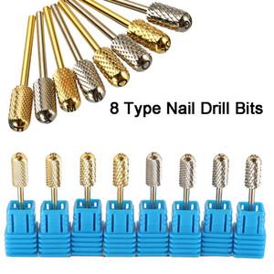 2.35mm 3/32 '' Planteur Nail Bits Barrel Top sécurité lisse Nail Art File Perceuse Bit Manucure électrique Mèche carbure Manucure