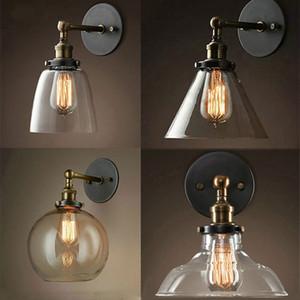 annata luminaria palla di vetro principale camera da letto comodino lampada da letto navata lampara pared