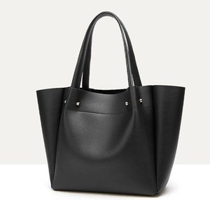 Diseñador de la mujer del color sólido-Bolsas de gran capacidad del hombro bolsa de asas de lujo de gran tamaño del bolso de señora