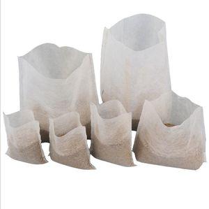 Pousse Flowerpot sacs plantes non tissé arbre Tissu Pots Cultivez Sac conteneur racine Pouch plante à fleurs de plantation de la main des sacs non tissés LXL98-1