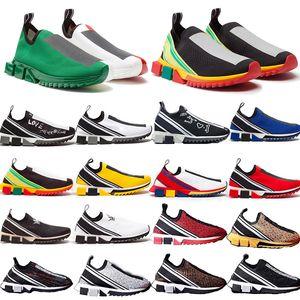 Sorrento Sneaker Knit Повседневная обувь мужская Branded Man Алмазные RHINESTONES Резина дышащий Повседневный Спорт Stretch Mesh Gentleman партии тренер