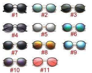 Designer-Sonnenbrille für Männer und Frauen Metall runden Rahmen Brille Retro-Sonnenbrille europäischen und amerikanischen Männer Sonnenbrille Mode Brille