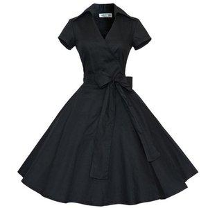 Toppick Dot Summer Dress Plus Size Dress Women Clothing Party Dress Office Ball Gown Robe Sexy Vintage Big Swing Vestidos Jurken
