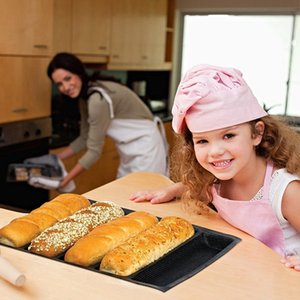 Silicone Baguette Pan - Non-Stick Perforated Fench Bread Pan Forms , Hot Dog Molds , Baking Liners Mat Bread Mould Other Bakeware