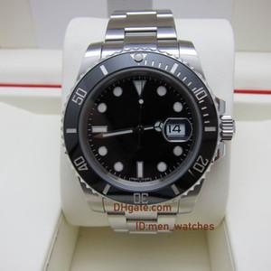 TOP N fábrica homens V10 de luxo assistir Sapphire relógios ETA 2836 ETA 3135 movimento painel de cerâmica modelo 116610ln 904L de aço inoxidável Relógio de pulso