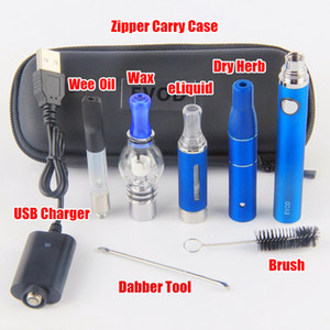 2019 EVOD Vape Dab Penne eVod Vaporizzatore 4 in 1 Starter Kit Dry Herb Wax Oil Vapes 510 Thread USB Passthrough CE3 Vape Cartucce Kit