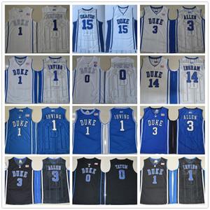 NCAA Duke Blue Devils College Jersey Kyrie 1 Ирвинг Джахлиль 15 Окафор Грейсон 3 Allen Brandon 14 Ingram Jayson 0 Татум сшитые трикотажные изделия