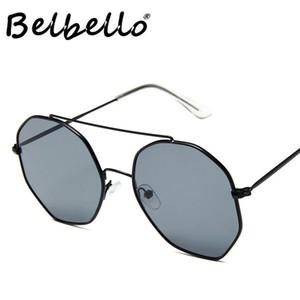 Belbello unissex metal óculos de sol Mulheres Sunglasses Mens Sólidos Moda Classics Modelo Popular Tendência UV400