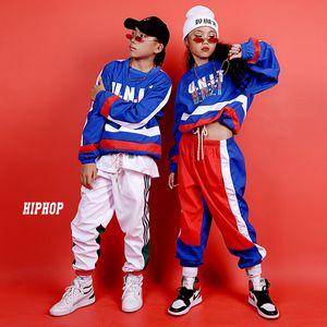 Дети Джаз Танцевальные костюмы Street Dance Спорт Hip Hop Одежда для мальчиков девочек Бальные Performance Stage Wear
