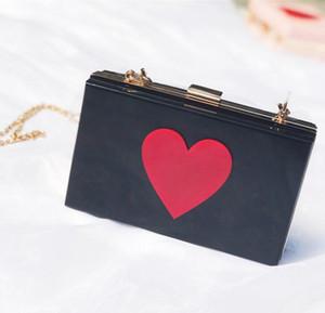 Дизайнер Женщин Лоскут Hangbag Роскошные Леди Цепи Сумка Мода Яркие Сердца Сумки Простые Сумки Высокого Качества