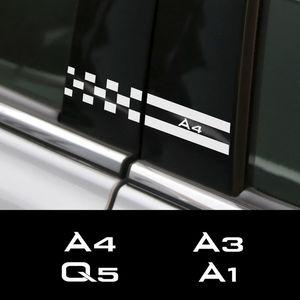 Extérieur ccessoires Autocollants voiture 2PCS autocollant de voiture pour udi A4 5 6 B7 B8 A3 8P 8V A5 A6 C6 8L C5