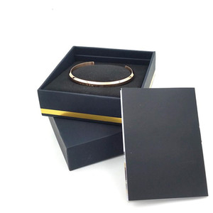 Liebe C-Armbänder Manschette mit ursprünglichem Kasten Rose Gold-Silber-Armband All Edelstahl-Armband-Frauen-und Herren-Armband Schmuck-Set