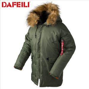 Мода зимняя шапка мужская Хлопок Одежда Марка Дизайнер Bomber DAFEILI Hat куртка мужская высокого качества DFEILI Luxury теплая куртка B3B XS-2XL