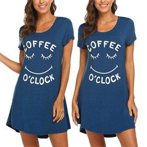 Brief Kurzarm Womens Kleider Sommer Rundhalsausschnitt Lose Designer Einfache T-Shirt Kleid Famale Beiläufige Kleidung