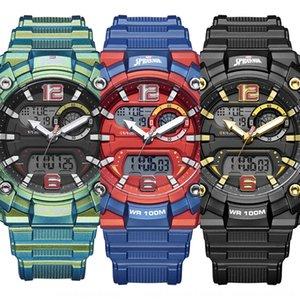 MARVEL 스파이더 맨 전자 100m 방수 남성 스포츠 패션 전자 시계 598를 개인화 된 시계