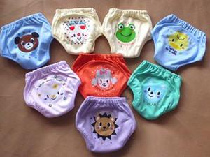 4 층 만화 아기 훈련 바지 방수 기저귀 바지 변기 유아 팬티 신생아 속옷 재사용 바지 개 곰 개구리 (8) 디자인