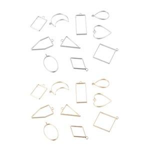 20pcs Geometric Pendants Hanging Bracelet Jewelry Finding Crafts W  Hole