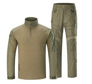avcılık için giyim Kamuflaj Taktik Üniforma G3 Ordu Combat Suit Set Airsoft Paintball Multicam Kargo Pantolon Uzun Kollu T-shirt