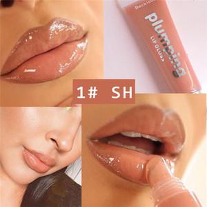 보습 플럼 핑 립글로스 체리 반짝이 립 글로스 립 플럼 퍼 메이크업 영양 립스틱 미네랄 오일 클리어 립 글로스의 6PCS