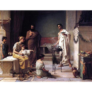 High quality Oil Paintings of John William Waterhouse art A Sick Child brought into the Temple of Aesculapius canvas Hand painted Personaliz