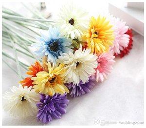 İpek Transvaal Papatya 23 Renkler 55 cm Barberton Papatya Yapay Çiçek Sun Flower İçin Düğün Dekorasyon Ev Dekorasyon