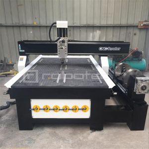 Vendedor caliente de la máquina fresadora CNC 1325 4 ejes CNC de la carpintería de aluminio del metal precio de la máquina fresadora con Rotary