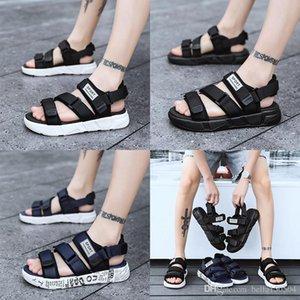 MIGLIORE QUALITÀ di marca europea del progettista Sandalsmen sandali di estate blu bianco nero antiscivolo ad asciugatura rapida pantofole all'aperto scarpe Acqua dolce