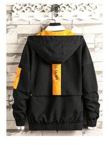 Preppy style coat Winter Mens Womens Fashion Outwear Jakcets Sport Jacket High Patchwork Tops Windbreakers Casual Windbreaker M-4XL B100131Q