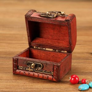 Jewelry Box Vintage Wood Handmade Box With Mini Metal Lock For Storing Jewelry Treasure Pearl Handmade Vintage Retro storage