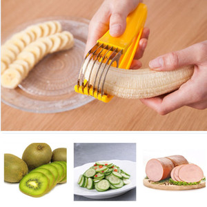 Banana Slicer Stainless Steel Ham Sausage Cucumber Kiwi Cutter Slicer Piece Tools Fruit Vegetable Kitchen Accessories Tools HH9-2137