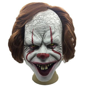Adulte Horreur Clown Masque Effrayant Masque Latex Costume Horreur Halloween Props Décoration cosplay Mascara Terreur