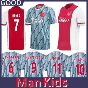 Thailand 20 21 Ajax soccer jersey PROMES ajax Home away amsterdam VAN DE BEEK NERES 2020 2021 TADIC FOOTBALL SHIRT MEN + KIDS SETS uniforms