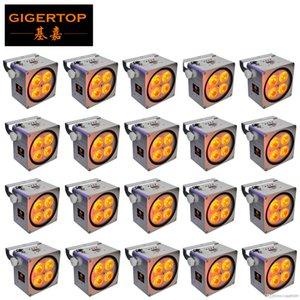 20X lot, 4x18W 6in1 RGBAWAP Battery Power LED Flat Par-Licht, DMX Wireless-LED Schlanke Par Can Für Disco DJ Party Club