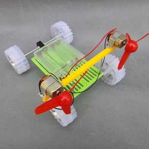 Feichao Turn Air Powered Vehicle Car Double Motor Propeller Toy DIY Assembly Module 18*13*14cm DIY Handmade Toy Kit For Kid
