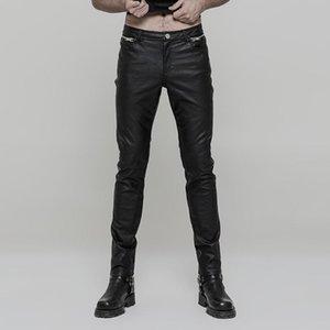 Мужские брюки панк-розыгрыш Гот Рушад из искусственной кожи узкие брюки K-321