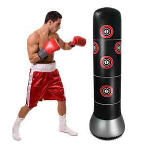 Bolsa de boxeo inflable para aliviar el estrés, soporte de perforación independiente, bolsa de arena con bomba de aire para niños adolescentes adultos