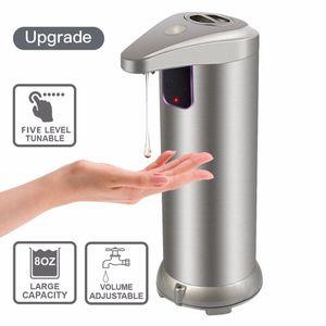 LED Hands Free Бесконтактный из нержавеющей стали Автоматический дозатор мыла датчик движения удобной ванной автоматический дозатор жидкого мыла