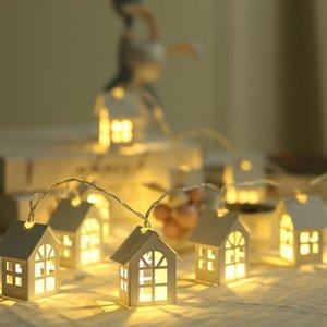 1,5M LED d'arbre de Noël Décor LED Light House Chaîne de mariage Garland Nouvel An de Noël Décorations pour Xmas Party 10pcs