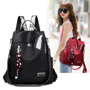 Package Shoulders Both Woman Light Noodles Oxford Cloth Three Use Travel Backpack Leisure Time Guard Against Theft A Bag